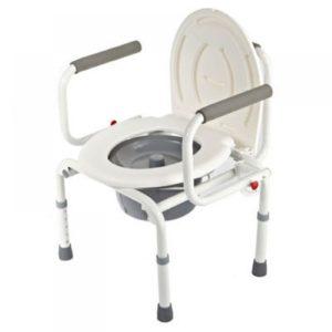 Кресло-туалет нескладной, с опускаемыми подлокотниками Симс-2 Wc Delux