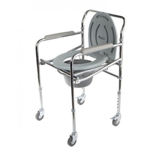 Кресло-туалет складной оснащенный четырьмя колесами Симс-2 Wc Mobail