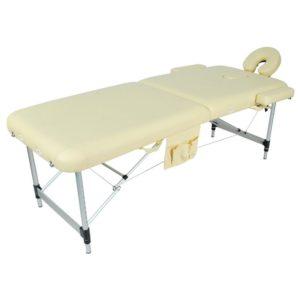 Массажный стол складной алюминиевый Мед-Мос Jfal01a 2-х секционный (Мст-002л)