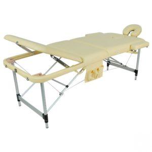 Массажный стол складной алюминиевый Мед-Мос Jfal01a М/к (3-х секционный) (Мст-102л)