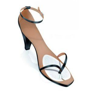 Прозрачные ультратонкие гелевые подушечки для туфель с межпальцевой перемычкой Orliman Minilpus Ps-2
