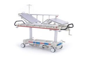 """Тележка медицинская для перевозки больных, механическая, модель """"Медицинофф"""", с принадлежностями, вариант исполнения: E-8"""
